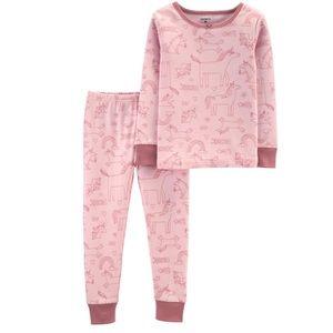 Girls 2-piece Unicorn Pajamas